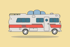 Vintage Camping Car / Bus For All Family. Royalty Free Stock Images
