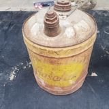 Vintage gas can. Vintage can gas oil tin royalty free stock images