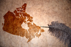 Vintage Canada map Royalty Free Stock Image