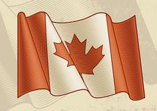 Vintage Canadian Flag Stock Photography