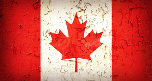 Vintage Canadian Flag Royalty Free Stock Photography
