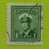 Vintage Canadian postage stamp. A vintage Canadian postage stamp Royalty Free Stock Photo