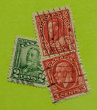 Vintage Canadian postage stamp. A vintage 1911/1935 King George V postage stamp Stock Photos