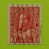 Vintage Canadian postage stamp. A vintage 1911/1935 King George V postage stamp Royalty Free Stock Image