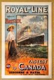 Vintage Poster Canadian Royal Line. Vintage poster - Canadian Northern Railways - Royal Line. Canada Stock Photos