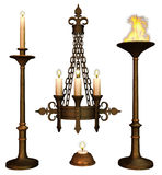 Vintage candelabras Stock Photos