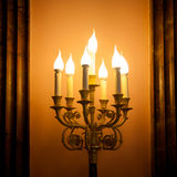 Vintage candlestick lamp Stock Photography