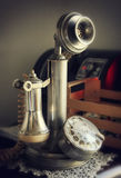 Vintage candlestick phone Stock Photos