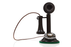 A vintage candlestick phone on a white background Stock Photography