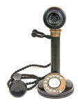 Vintage Candlestick Telephone. An antique or vintage candlestick telephone as used from the 1900s onwards stock photos