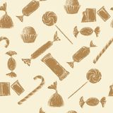Vintage candy background Stock Photo