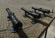 Vintage cannon in the courtyard of Les Invalides Stock Photos