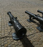 Vintage cannon in the courtyard of Les Invalides Royalty Free Stock Images
