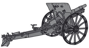 Vintage cannon. Vector illustration of hand-drawn vintage cannon Royalty Free Stock Photo