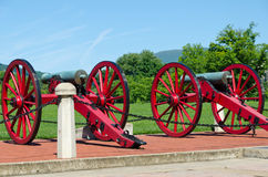 Vintage cannons. From American civil war era Stock Photo