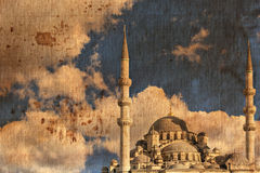 Vintage canvas print Istanbul mosque Royalty Free Stock Photography