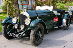 Vintage car. Bentley Speed Model from 1925 on rally vintage cars Stock Photo