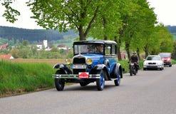 Vintage car. KRIVONOSKA - MAY 8: 1930 FORD A on Car Competition during 40th Czech Veteran Rallye. May 8, 2010 in Krivonoska, Czech Republic stock images