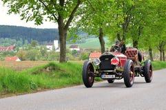 Vintage car. KRIVONOSKA - MAY 8: 1917 AMERICAN LAFRANCE 75 on Car Competition during 40th Czech Veteran Rallye. May 8, 2010 in Krivonoska, Czech Republic stock photo