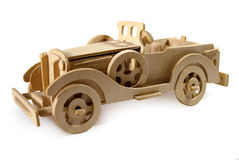 Vintage car. Wooden model vintage car, retro style Stock Photography