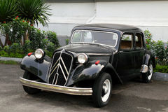 Vintage Car. Citroen Traction Avant vintage car. The Citroen Traction Avant was an innovative front wheel drive automobile produced by the French manufacturer stock photos