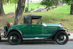 Vintage car. Parked near a park stock photos