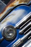 Vintage Car. Partial image of an old, rusty vintage car Stock Photography