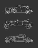 Vintage car. Vector illustration of high quiality vitage cars Royalty Free Stock Image