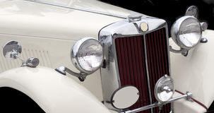 Vintage Car. White vintage car close up Royalty Free Stock Photography