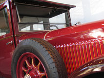Vintage car. Red vintage car Stock Images