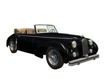 Vintage car. 3D vintage automobile white background Royalty Free Stock Photo