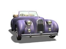 Vintage car. 3D vintage automobile white background Stock Images