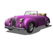 Vintage car. 3D vintage automobile white background Stock Photo