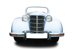 Vintage car. Isolated on white Royalty Free Stock Images