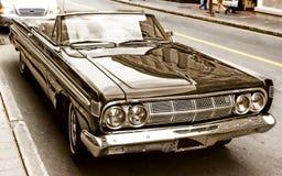Vintage car. Sepia automobile retro Stock Photos