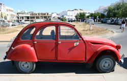 Vintage car. Red 2CV still going strng royalty free stock photography