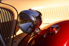Vintage car. The headlight of a vintage car Royalty Free Stock Photo