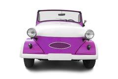 Vintage car. Purple retro car isolated on white background Stock Photo