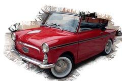 Vintage car. Italian red vintage car meeting Royalty Free Stock Images