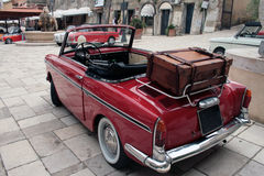 Vintage car. Italian red vintage car meeting Royalty Free Stock Photos