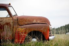 Vintage car abandoned Royalty Free Stock Photos