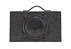 Vintage Car Audio Boom Box Woofer Isolated stock photography