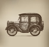 Vintage Car. Authors illustration in vector Royalty Free Stock Photo