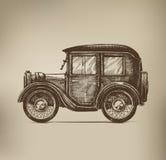 Vintage Car. Authors illustration in vector Vector Illustration