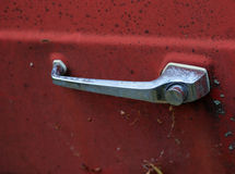 Vintage car back door handle Royalty Free Stock Photography