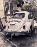 Vintage car in backyard Stock Images
