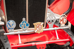 Vintage car badges Stock Image