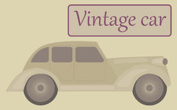Vintage car in beige colors. Royalty Free Stock Photo