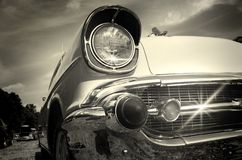 Vintage car in black and white Stock Photos
