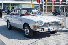 Vintage car BMW-Glas 3000-V8, 1967, designed by Pietro Frua. STUTTGART, GERMANY - MARCH 18, 2016: Vintage car BMW-Glas 3000-V8, 1967, designed by Pietro Frua Royalty Free Stock Photos